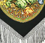 Ненаглядная 1025-18, павлопосадский платок (шаль) из уплотненной шерсти с шелковой вязанной бахромой, фото 6