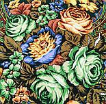 Ненаглядная 1025-18, павлопосадский платок (шаль) из уплотненной шерсти с шелковой вязанной бахромой, фото 5