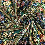 Ненаглядная 1025-18, павлопосадский платок (шаль) из уплотненной шерсти с шелковой вязанной бахромой, фото 8
