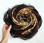 На крыльях памяти 1843-17, павлопосадский платок шерстяной  с шелковой бахромой, фото 2