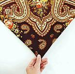 На крыльях памяти 1843-17, павлопосадский платок шерстяной  с шелковой бахромой, фото 4