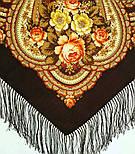 На крыльях памяти 1843-17, павлопосадский платок шерстяной  с шелковой бахромой, фото 6
