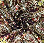На крыльях памяти 1843-17, павлопосадский платок шерстяной  с шелковой бахромой, фото 8