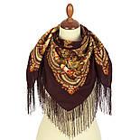 На крыльях памяти 1843-17, павлопосадский платок шерстяной  с шелковой бахромой, фото 5