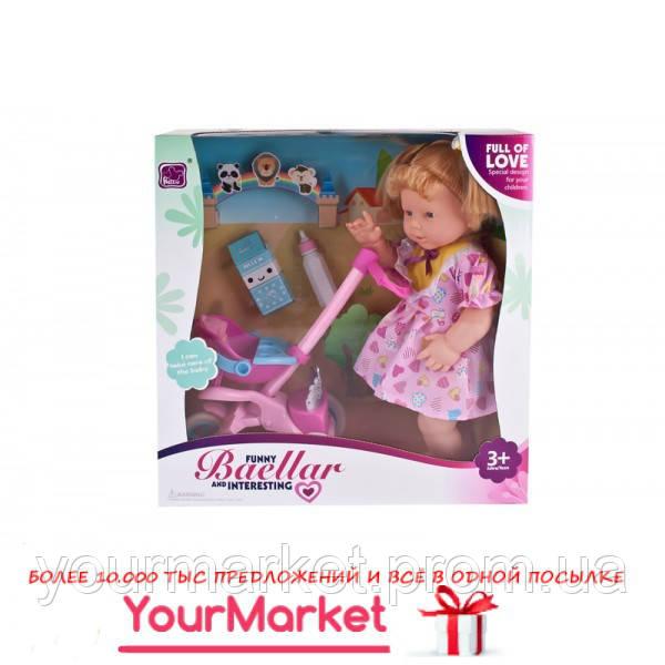 Кукла 10399  коляска, бутылочка, в кор.