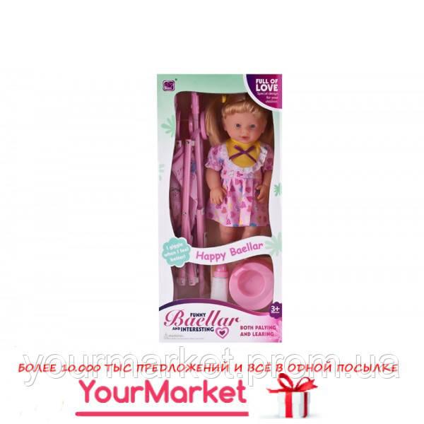 Кукла функц 10299 пьет/пис, бутылочка,горшок, коляска-тросточка, в кор