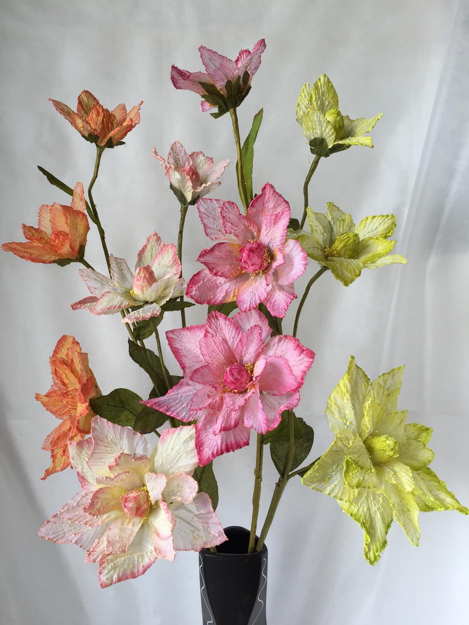 Ветка из фатина 3  цветка