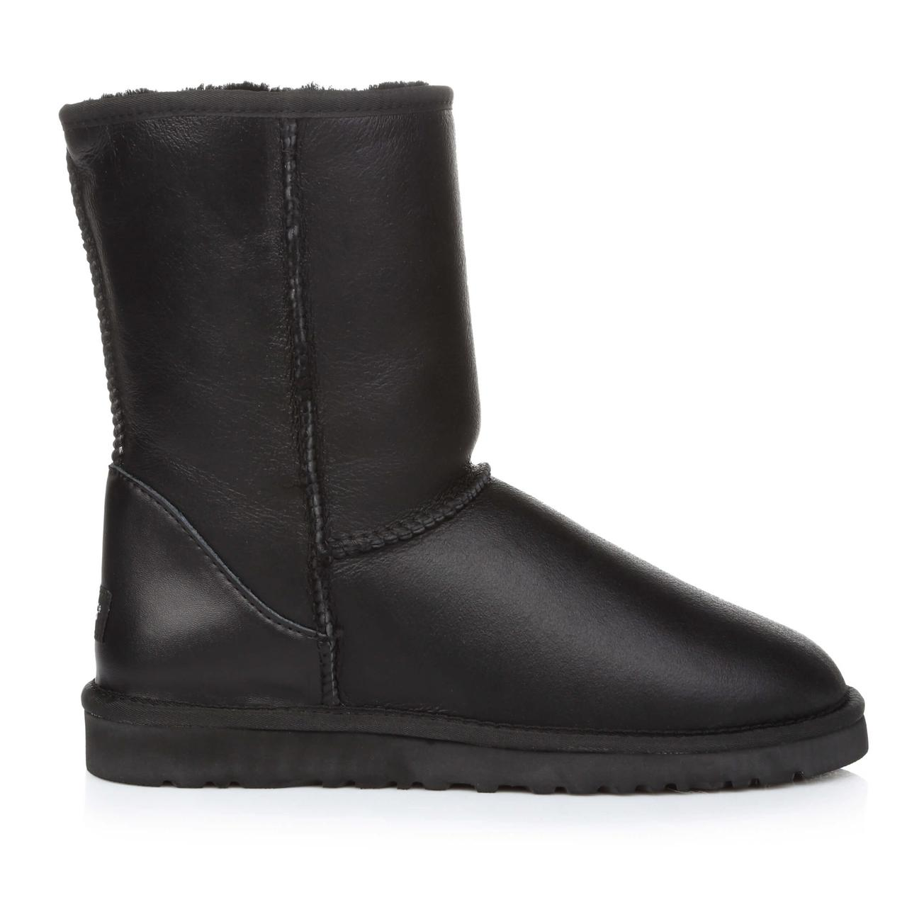 Угги UGG Classic Short Black Leather