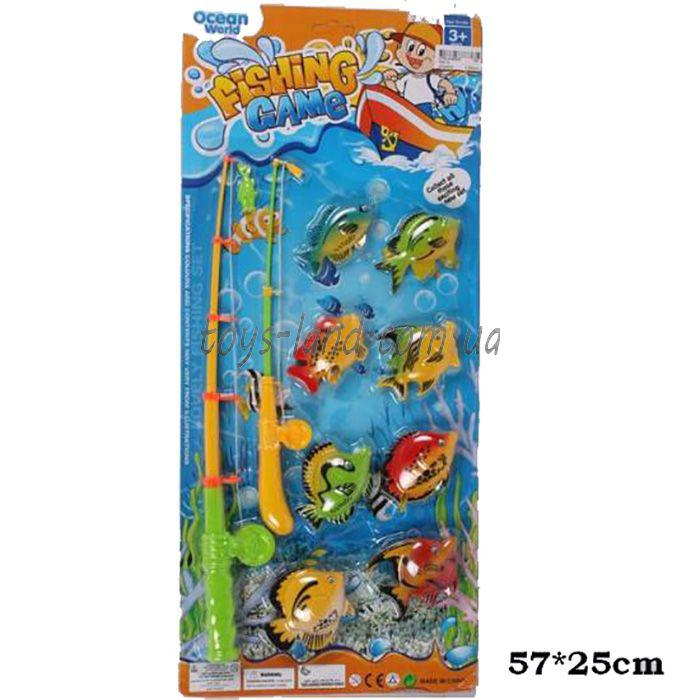 Рыбалка 336-10  2 магнит.удочки, 8 морских животных, на планшетке 57*2