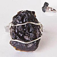 Кольцо Метеорит (Тектит) природная форма