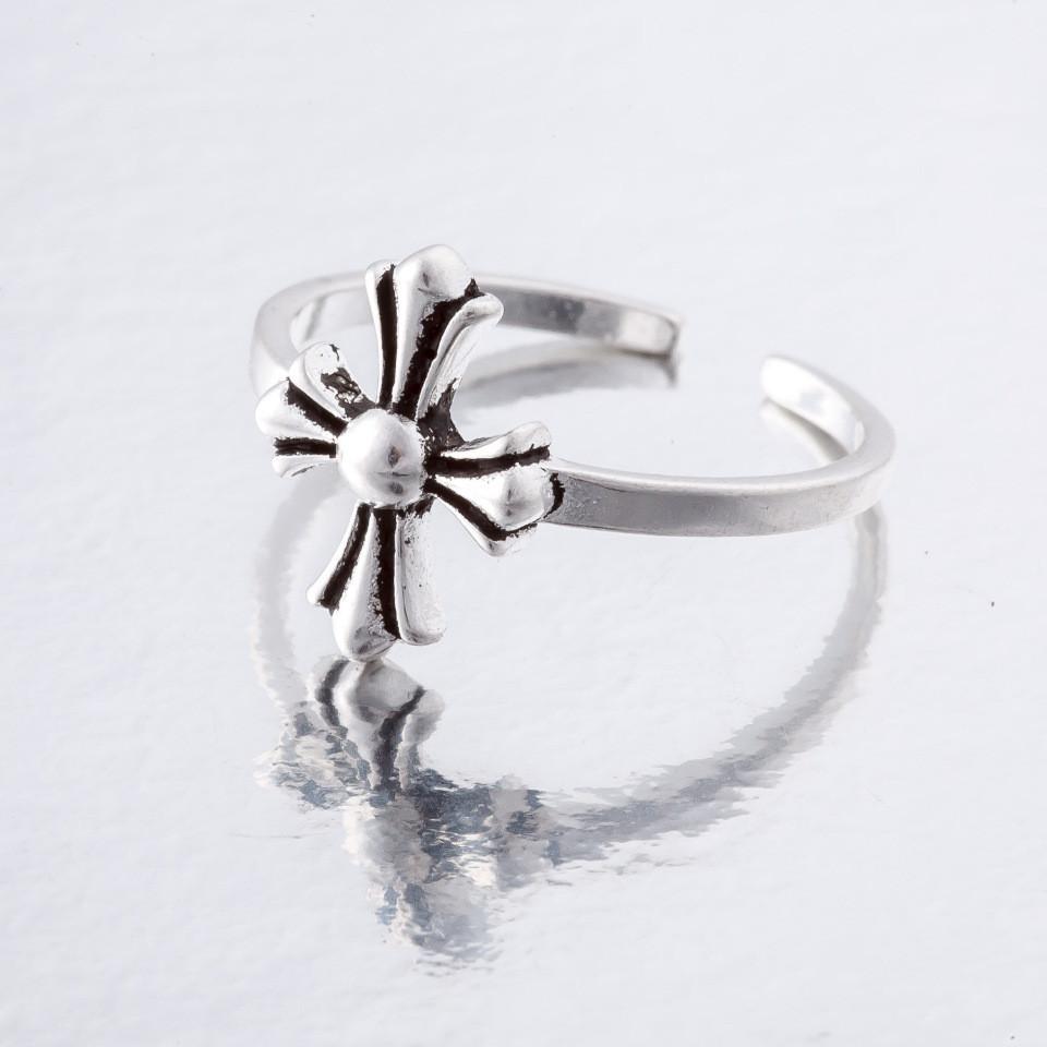 Кольцо без р-р Кельтский крест серебро