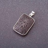 Кулон из натурального камня Вулканическая лава 26х19мм(+-) L- 36мм