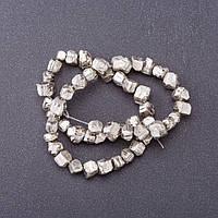 Бусины из натурального камня Пирит d-6-10мм L- 40см