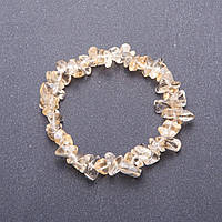 """Браслет из натурального камня """"Цитрин"""" (им) крошка d-мм(+-) обхват 18 см на резинке"""