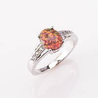Кольцо с натуральным красным Опалом р-р19