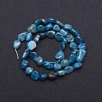 Бусины из натурального камня Апатит галтовка d-7х11мм L-41см