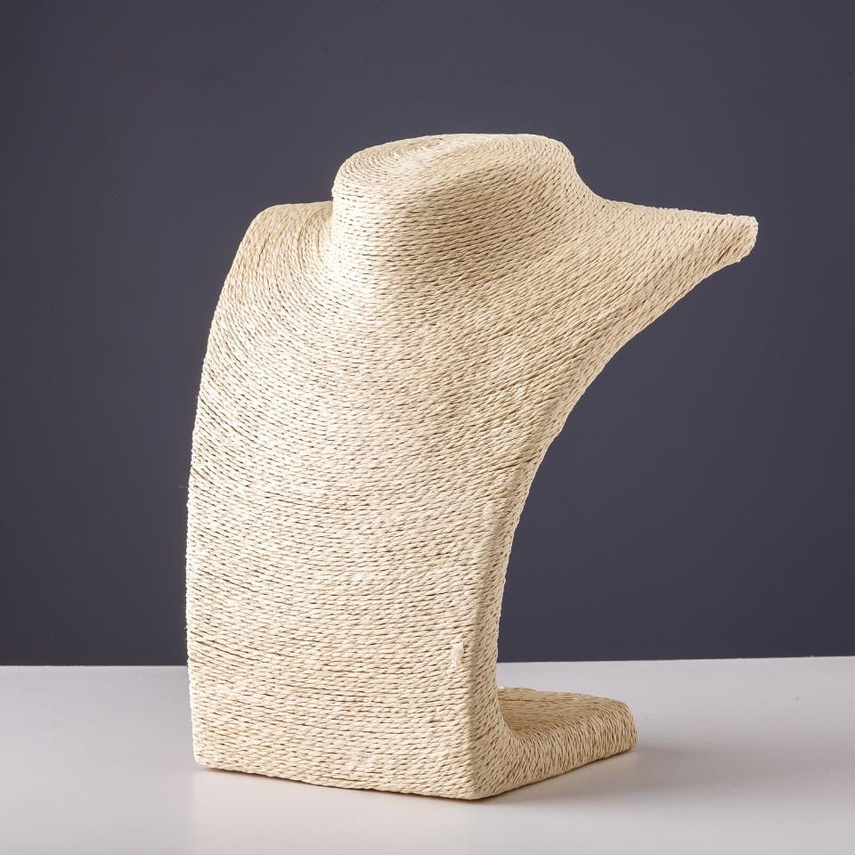 Подставка для бус шея пшеничный шпагат L-22 см