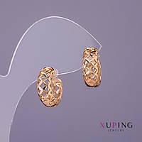 Серьги Xuping d-6мм L-15мм цвет золото