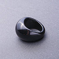 Кольцо перстень из натурального камня Черный Агат р-р 20-23
