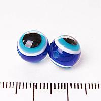 Бусина глаз назар оригинальная d-12мм фас.34шт