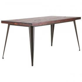 Стол обеденный Floyd Лофт Кофе столешница Гевея 1600*800 (AMF-ТМ)
