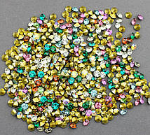 Стразы камушки цветные №16-20 d-3,8-4,5мм уп.\10гр(+-)