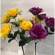 Штучний букет троянда.Дешевий Ритуальний букет троянда.