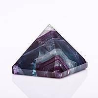Пирамида сувенир натуральный камень Флюорит h-3,5см b-4см