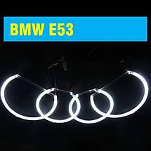 Ангельские глазки (2*127.5 мм + 2*158 мм) CCFL для BMW E53 белые, фото 3