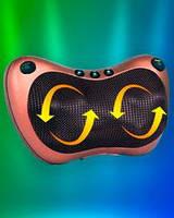 Многофункциональная подушка-массажер (8 роликов + 3 магнита) с ИК-прогревом