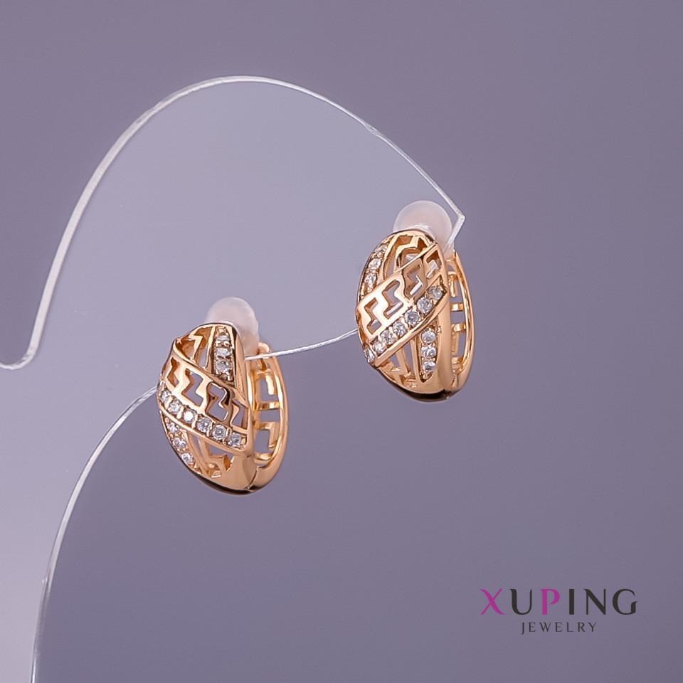 Серьги Xuping d-7мм L-15мм цвет золото