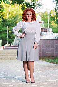 Д41123 Платье клеш  (размеры 50-56)