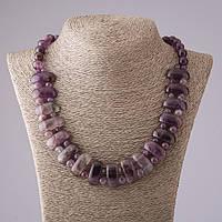 Ожерелье Клеопатра Аметист звено 12*25 мм и шарик 10mm L50см