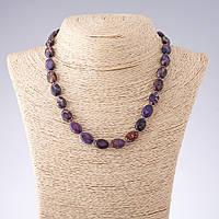 Намисто Варисцит фіолетовий овал d-10*13мм L-43см