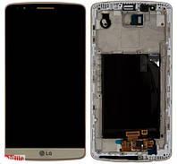 Дисплей с тачскрином и корпусом для телефона LG D855 G3  ACQ87190303