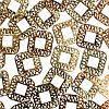 Набор металлических золотых форм для жидких камней