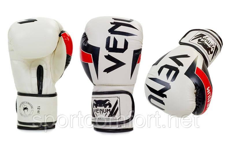 Перчатки для бокса Venum Pu (полиуретан) белые реплика
