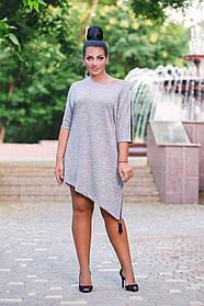 ДР15111  Платье ассиметричное (размеры 46-56)