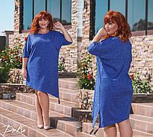 ДР15111  Платье ассиметричное (размеры 46-56), фото 2