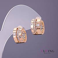 Серьги Xuping d-2мм 9мм L-15мм цвет золото