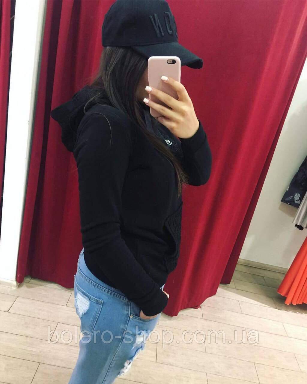 Кофта свитшот женская Dolce Gabbana черный