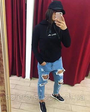 Кофта свитшот женская Dolce Gabbana черный, фото 2
