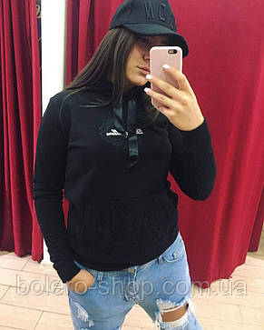 Кофта свитшот женская Dolce Gabbana черный, фото 3