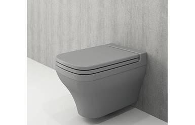 Унітаз підвісний BOCCHI SCALA ARCH сірий матовий