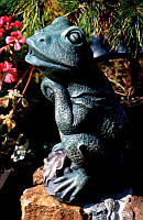 Декоративный фонтан лягушка