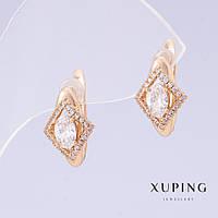 Серьги Xuping L-1,5см s-8мм цвет золото