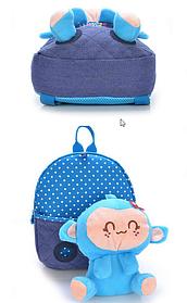 Казкові дитячі рюкзаки з мавпочкою в кишені
