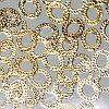 Набор металлических золотых овалов для жидких камней