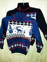 Детский свитер вязаный для мальчика, фото 1