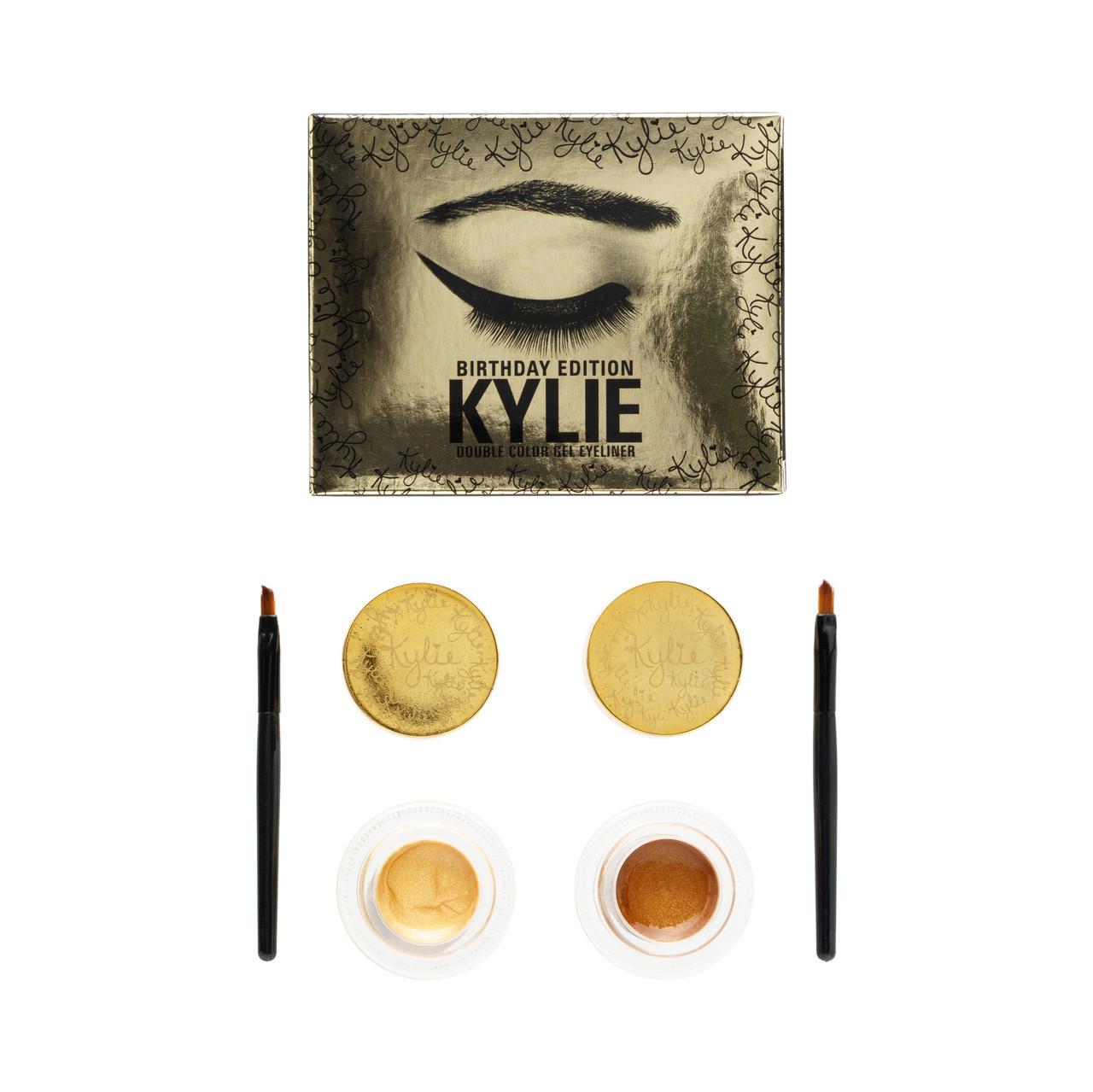 Кремовые тени подводка Kylie Double Color Cel (2шт. - ROSE GOLD-5g, DARK BRONZE-4g)
